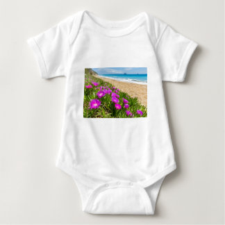 Pink icicle plants at coast in Greece Baby Bodysuit