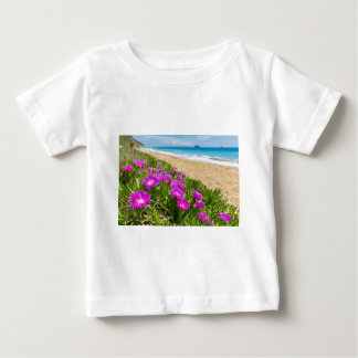 Pink icicle plants at coast in Greece Baby T-Shirt