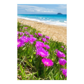 Pink icicle plants at coast in Greece Stationery Paper