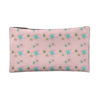 Pink Iconic Atomic Starbursts Cosmetic Bag