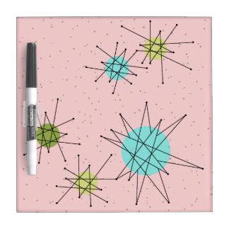 Pink Iconic Atomic Starbursts Dry Erase Board