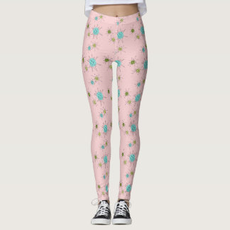 Pink Iconic Atomic Starbursts Leggings