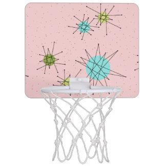 Pink Iconic Atomic Starbursts Mini Basketball Hoop