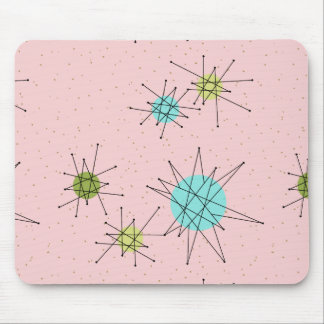 Pink Iconic Atomic Starbursts Mousepad