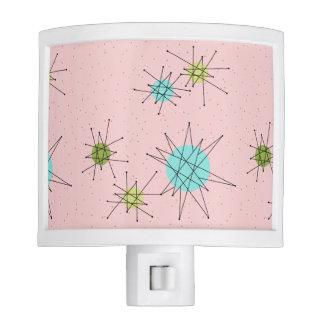 Pink Iconic Atomic Starbursts Night Light