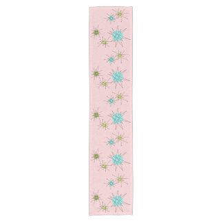 Pink Iconic Atomic Starbursts Table Runner