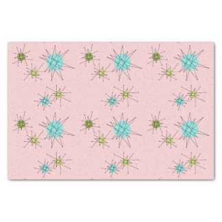 Pink Iconic Atomic Starbursts Tissue Paper