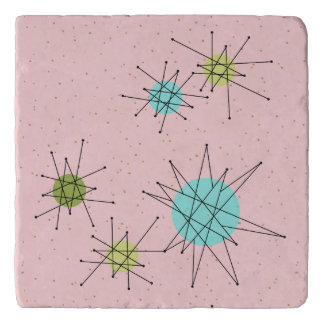 Pink Iconic Atomic Starbursts Trivet