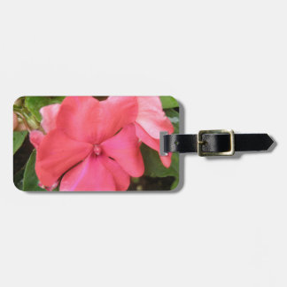 Pink Impatiens Flower Macro Custom Luggage Tag