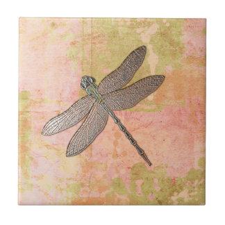Pink Impressions Dragonfly Ceramic Tiles