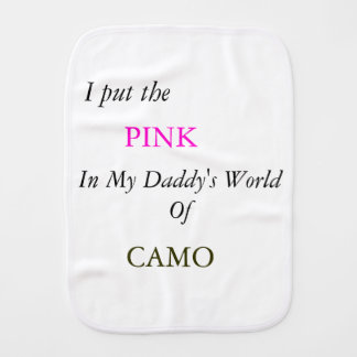 Pink in CAMO Burp Cloths