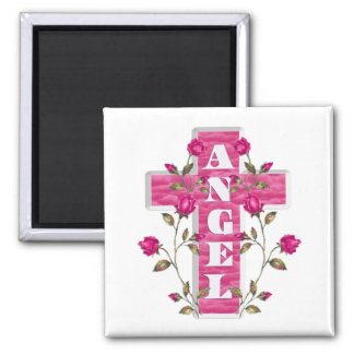 Pink In Memory Angel Magnet