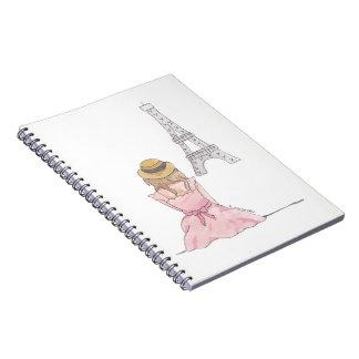 Pink In Paris - Spiral Notebook