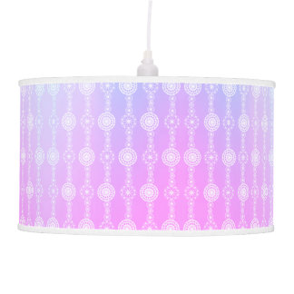 Pink Indigo Striped Lace Lamp