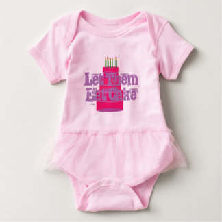 "Pink Infant T-shirt W/Tutu ""Let Them Eat Cake"""