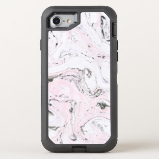 Pink Ink Marble Pattern OtterBox Defender iPhone 8/7 Case
