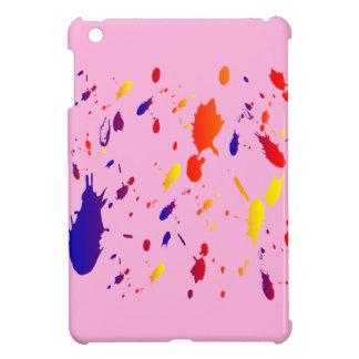 Pink iPad Mini Case Paint Splashes