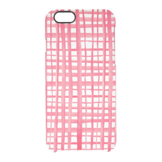 Pink iPhone 6 Transparent Case Clear iPhone 6 Plus
