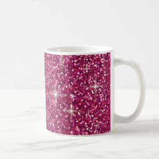 Pink iridescent glitter coffee mug