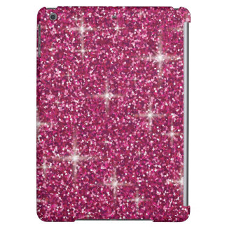 Pink iridescent glitter cover for iPad air