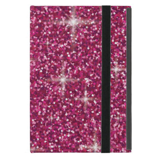 Pink iridescent glitter cover for iPad mini