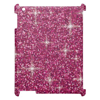 Pink iridescent glitter iPad covers