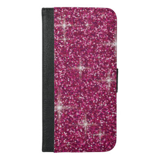 Pink iridescent glitter iPhone 6/6s plus wallet case