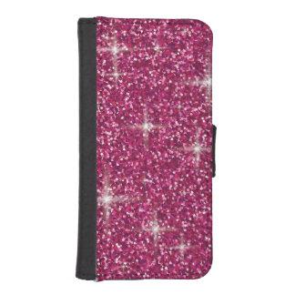Pink iridescent glitter iPhone SE/5/5s wallet case