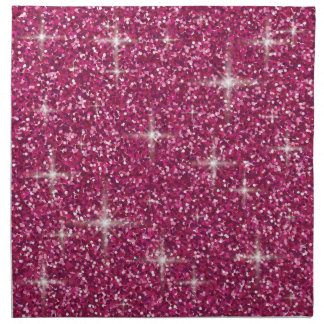 Pink iridescent glitter napkin