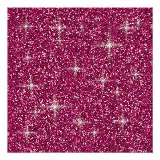 Pink iridescent glitter perfect poster