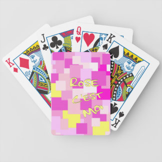 Pink is Me Bicycle Playing Cards