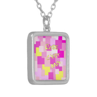 Pink is Me Silver Plated Necklace