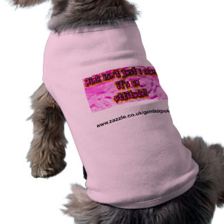 pink is not a color its an attitude pet tee