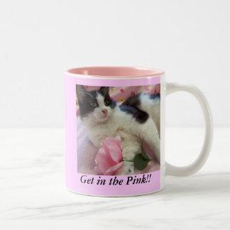 Pink is the mood Two-Tone coffee mug