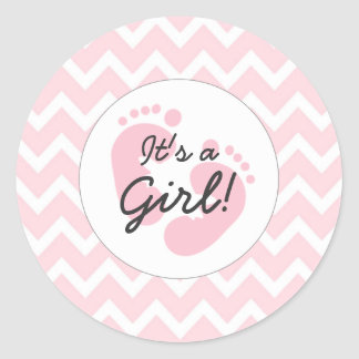 pink it's a girl baby shower envelope seals