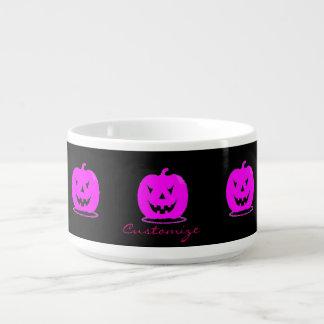 Pink Jack o'lantern Halloween Thunder_Cove Bowl