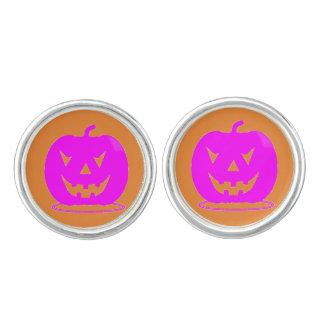Pink Jack o'lantern Halloween Thunder_Cove Cuff Links