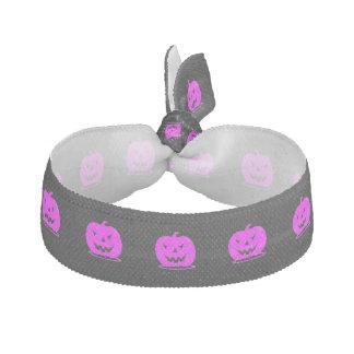 Pink Jack o'lantern Halloween Thunder_Cove Hair Tie
