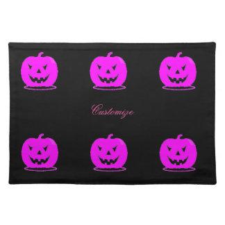 Pink Jack o'lantern Halloween Thunder_Cove Placemat