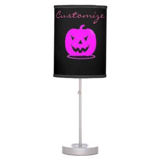 Pink Jack o'lantern Halloween Thunder_Cove Table Lamp