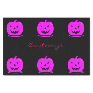 Pink Jack o'lantern Halloween Thunder_Cove Tissue Paper