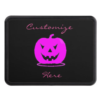 Pink Jack o'lantern Halloween Thunder_Cove Trailer Hitch Cover
