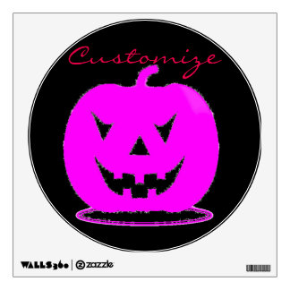 Pink Jack o'lantern Halloween Thunder_Cove Wall Sticker