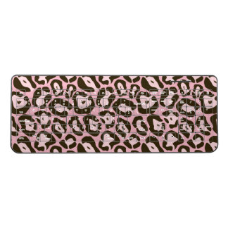 Pink Jaguar Wild Animal Skin Pattern Wireless Keyboard