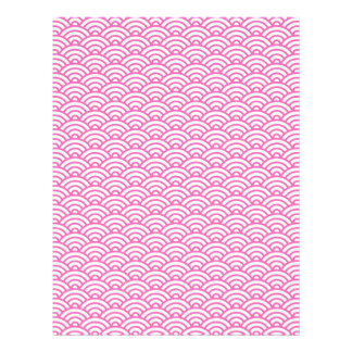 Pink Japaneese wave pattern scrapbook craft paper