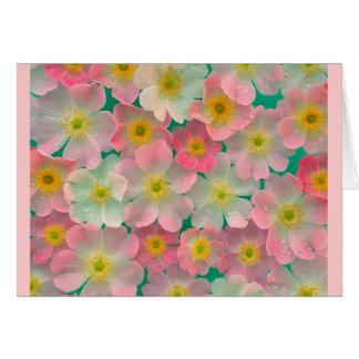 Pink Japanese Anemones Card