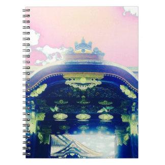 Pink Japanese Castle Series Spiral Notebook