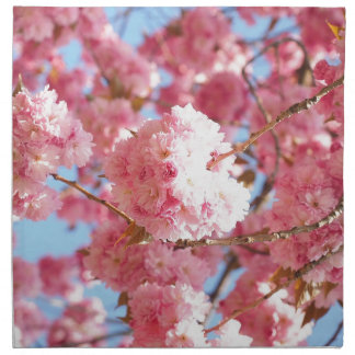 Pink Japanese Cherry Blossom Napkin