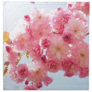 Pink Japanese Cherry Blossom Photograph Napkin