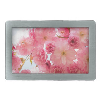 Pink Japanese Cherry Blossom Photograph Rectangular Belt Buckle